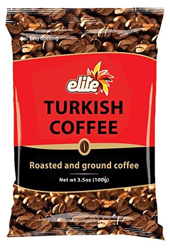 Elite Turkish Ground Roasted Coffee Bag 35000-ounces 6 Pack