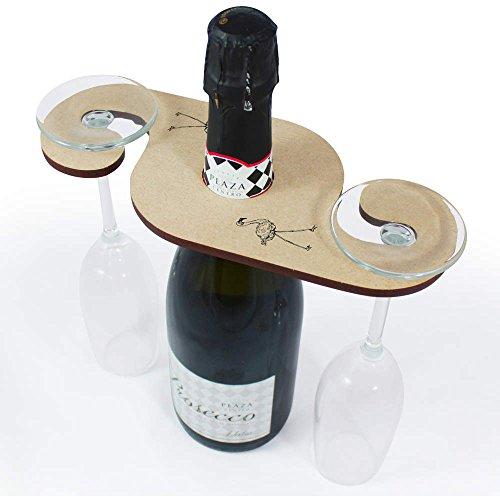 Beautiful Flamingo Wooden Wine Glass  Bottle Holder GH00025091