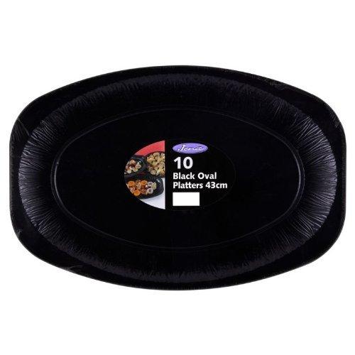 17 Black Foil Platters X 10 Sandwich Platter Trays