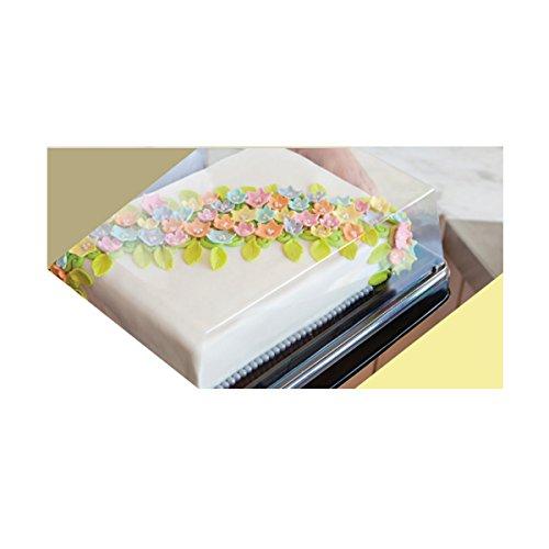25-Pack Elegant Plastic 12 Sheet Cake Container Bakery Catering Cake Platter 20x15x505