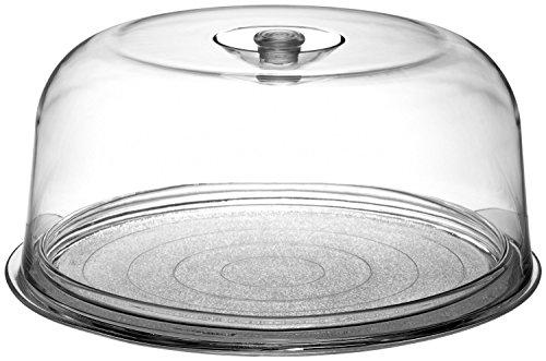 Bormioli Rocco Ginevra Cake Platter With Plastic Dome Gift Boxed