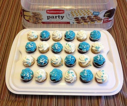 Rubbermaid Cupcake Platter Party Serving Kit