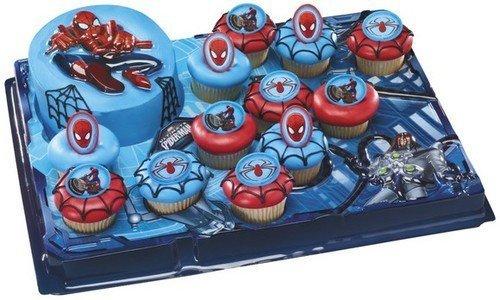 Spiderman Cupcake Platter