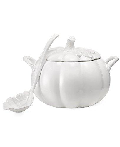 Martha Stewart Collection Serveware Figural Pumpkin Soup Tureen with Ladle