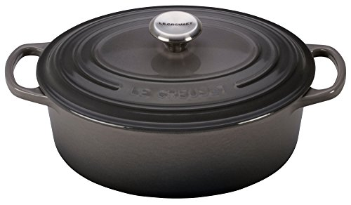 Le Creuset Enameled Cast Iron Signature Oval Dutch French Oven 2 34 quart Oyster