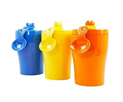 Freedi Airtight Pet Dog Cat Food Container BPA-Free Plastic Travel Pet Food Storage Storage Pet Treat Canister Barrel,5 Color Options