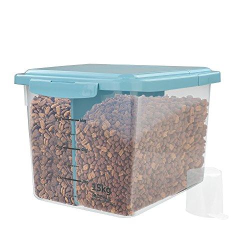 Nicesh 33-pound Airtight Pet Food Storage Containerblue