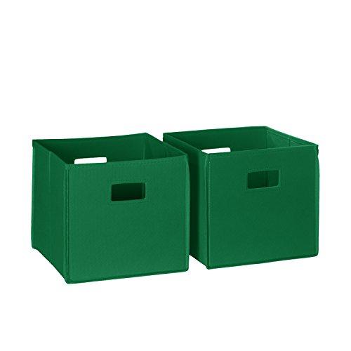 RiverRidge Kids 2pc Soft Storage Bins - Green