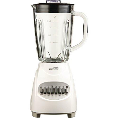 Brentwood JB-920W Appliances 12-Speed Blender with Glass Jar White