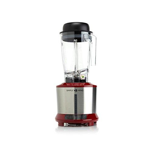 Ming Tsai 1300-Watt Hot Cold Power Blender w Tritan Jar Rich Red