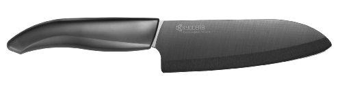 Kyocera Advanced Ceramic Revolution Series 5-12-inch Santoku Knife Black Blade