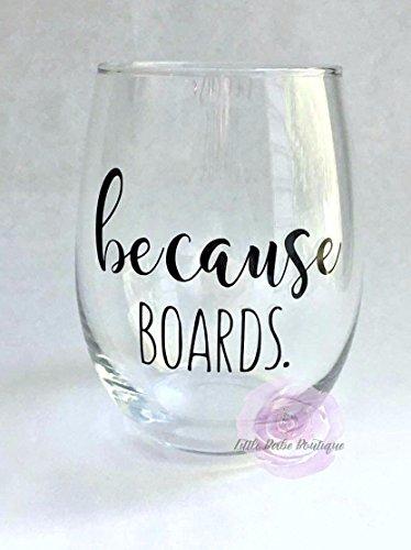 Because Boards Wine Glass Stemless Glass Board Exams Medical School Dental School RDH RN Nurse Gift