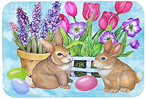 Carolines Treasures PJC1066LCB New Beginnings Easter Rabbit Glass Cutting Board Large Multicolor