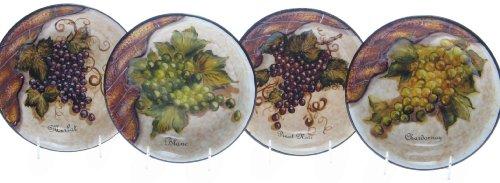 Certified International Wine Cellar 9-Inch PastaSoup Bowl Set of 4 Assorted Designs