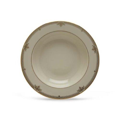 Lenox Republic Gold Banded Ivory China Pasta BowlRim Soup