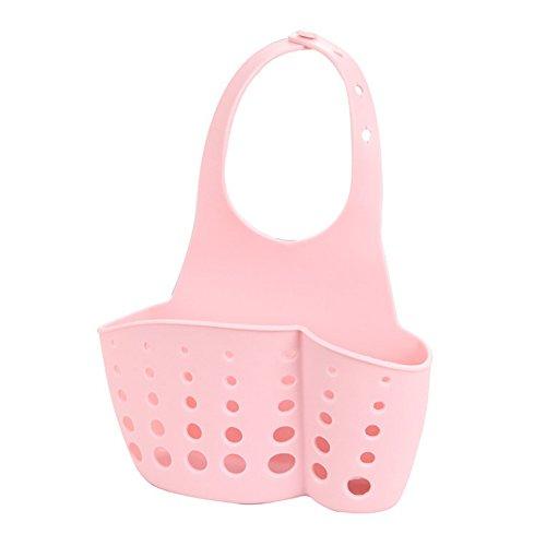 SZTARA Kitchen Sink Caddy Organiser Sponge Holder Rack Hanging Drain Basket for Home Bathroom Storage