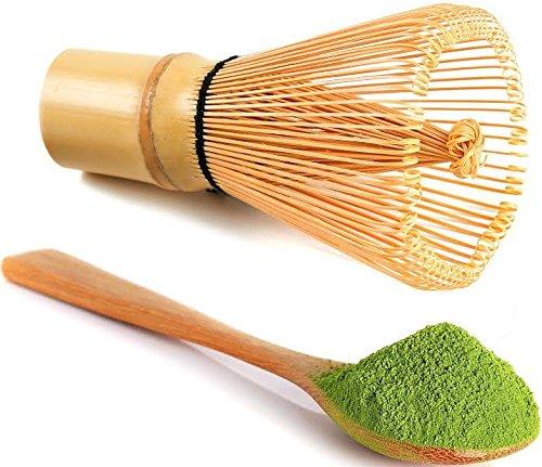 uVernal Matcha Whisk Tea Spoon Natural Bamboo Matcha Green Tea Powder Bamboo Whisk Chasen for Preparing Matcha