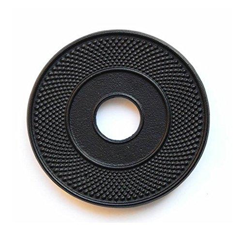 RUIKA Cast Iron Trivet for Teapot Black Hobnail 55-Inch Diameter