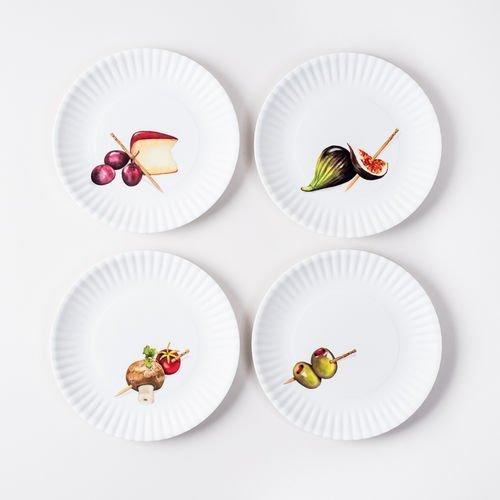 Melamine Hors DOeuvre Plates set of 4