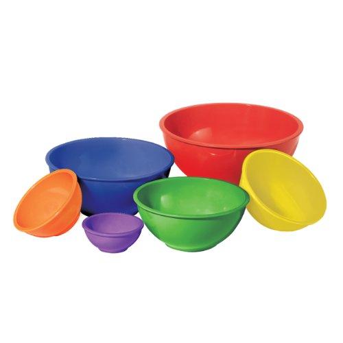 Oggi Melamine 6-Piece Mixing Bowl Set Assorted Color
