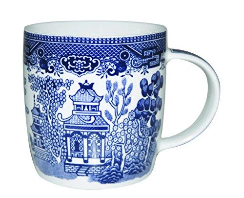 Churchill Blue Willow Fine China Coffee Tea Mug 11 Oz Set Of 6