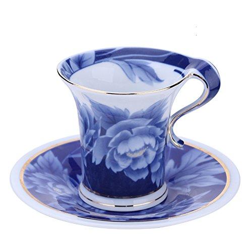 Continental rose bone China coffee mug teacup-B