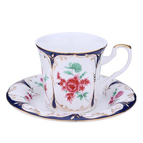 European roses bone China coffee cups teacup-A