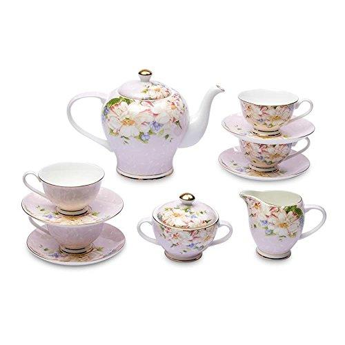 Moss Roses Bone China Tea Set-11 pcs