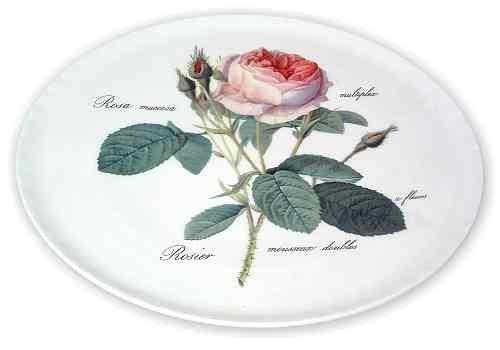 Redoute Rose Bone China Cake Plate