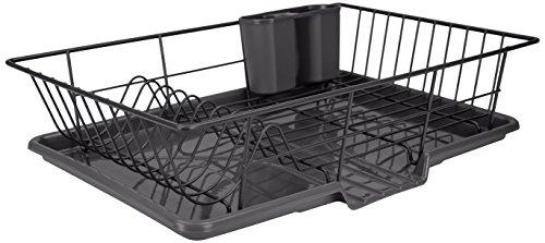 Home Basics DD30235 3 Piece Dish Drainer Black