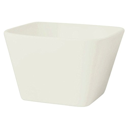 Front Of The House Mod Euro White Square Bowl 55 x 55 x 35 inch -- 12 per case