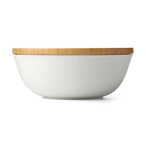 Lenox Entertain 365 Surface Large Covered Bowl White