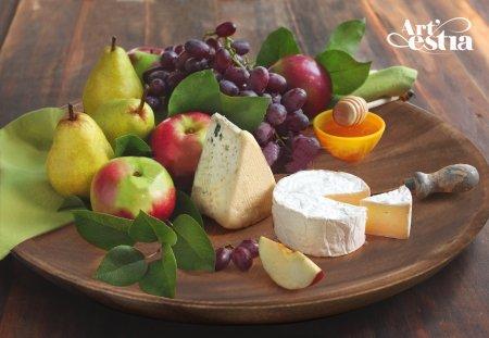 Artestia Wooden Plate for Serving Salad  Pasta  Bread 30 x 30 x 25 cm