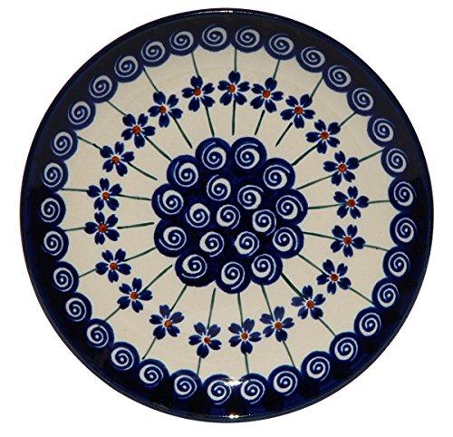 Polish Pottery Plate 65 Inch From Zaklady Ceramiczne Boleslawiec Gu-818-1085a Traditional Pattern 65 Inch Diameter