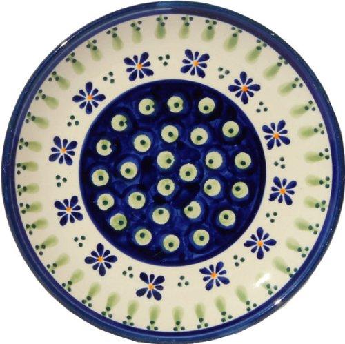 Polish Pottery Plate 65 Inch From Zaklady Ceramiczne Boleslawiec Gu-818-296a Traditional Pattern 65 Inch Diameter