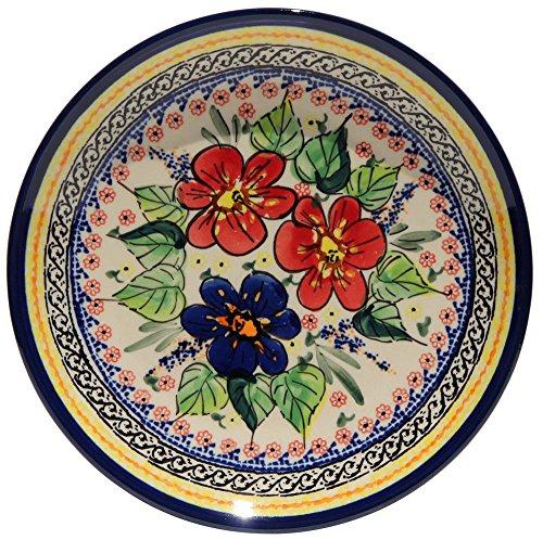 Polish Pottery Plate 75 Inch From Zaklady Ceramiczne Boleslawiec Gu-814-233 Art Unikat Signature Pattern 75 Inch Diameter