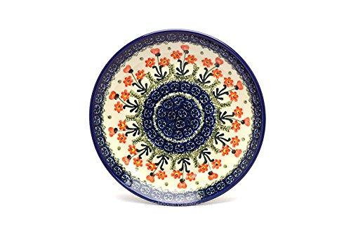 Polish Pottery Plate - SaladDessert 7 34 - Peach Spring Daisy