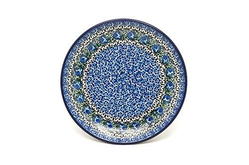 Polish Pottery Plate - SaladDessert 7 34 - Peacock Feather