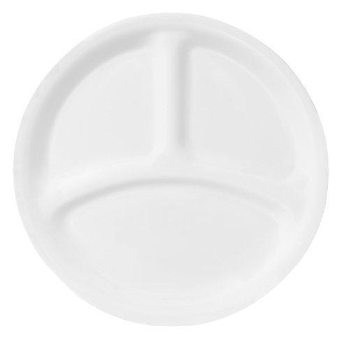 Corelle Livingware 8-12-Inch Divided Dish Winter Frost White 6