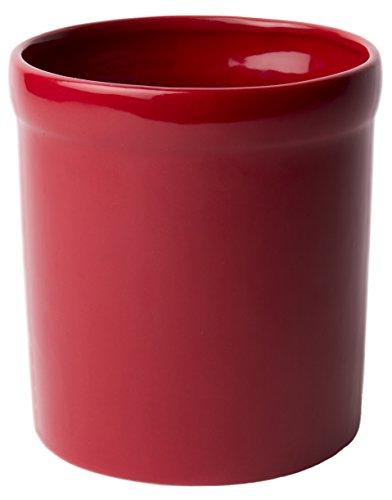 American Mug Pottery Ceramic Utensil Crock Utensil Holder Made in USA Red