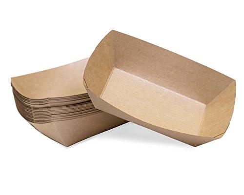 Small 14 Lb Kraft Paper Food Tray  25 Ct