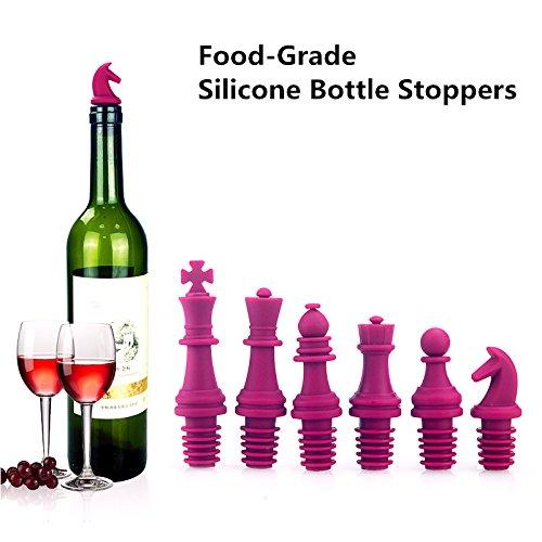Wine Preserve Stopper Wine Saver Pump Reusable Silicone Bottle Stopper Chess-Shaped Bottle Caps Wine Cork Bottle Sealer for Wine Beverage Beer Cooking Oil Vodka Juice Fine Furniture For Parties