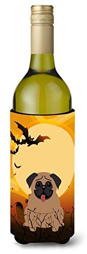 Carolines Treasures BB4271LITERK Halloween Pug Brown Wine Bottle Beverage Insulator Hugger 750ml Multicolor