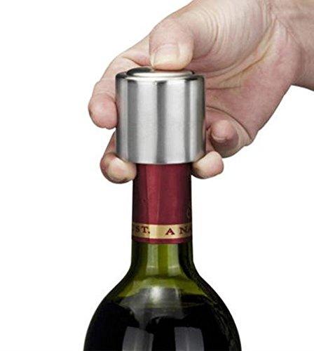 Stainless Steel Vacuum Sealed Champagne Wine Bottle Pump Stopper Bottle Cap Corks