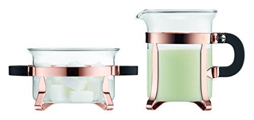 Bodum Chambord Classic Sugar and Creamer Set Copper