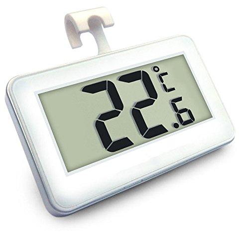 IVIDA Digital Wireless Freezer Refrigerator Thermometer and Indoor Temperature LED Monitor