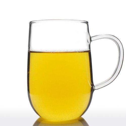 UNIHOM - Dawn Clear Glass Tea Cup Volume 200ml  280ml  400ml 2 400ml
