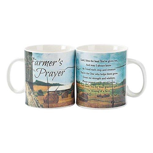 Farmers Prayer Hayfield Scene 20 Oz Ceramic Stoneware Coffee Cup Mug