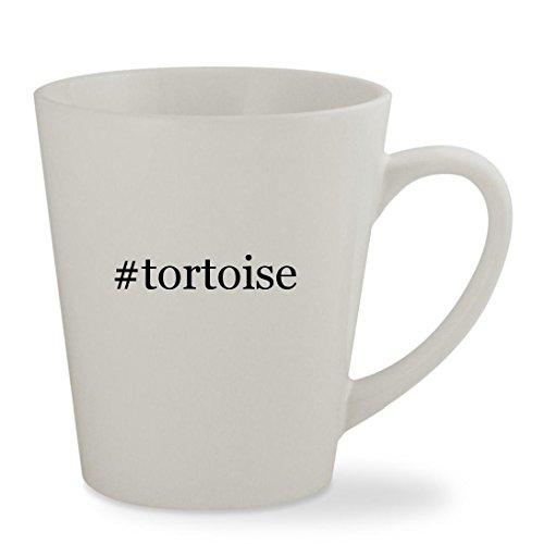 tortoise - 12oz Hashtag White Sturdy Ceramic Latte Cup Mug
