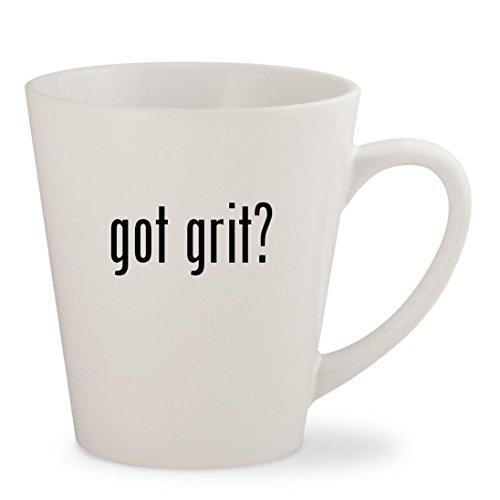 got grit - White 12oz Ceramic Latte Mug Cup